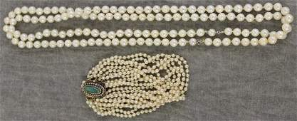 JEWELRY Gold and Pearl Jewelry Grouping