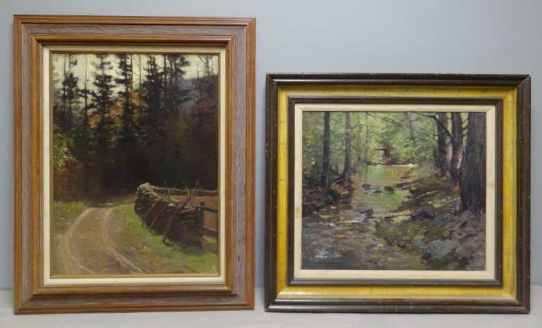 ANDERSON, Victor C. 2 Oil on Canvas Wooded