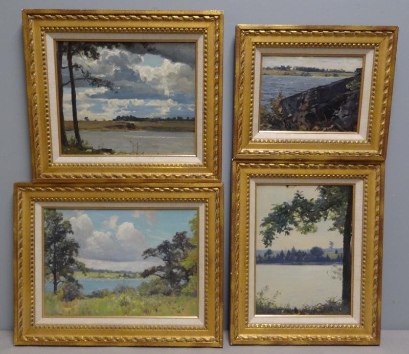ANDERSON, Victor C. 4 Oil on Board Summer