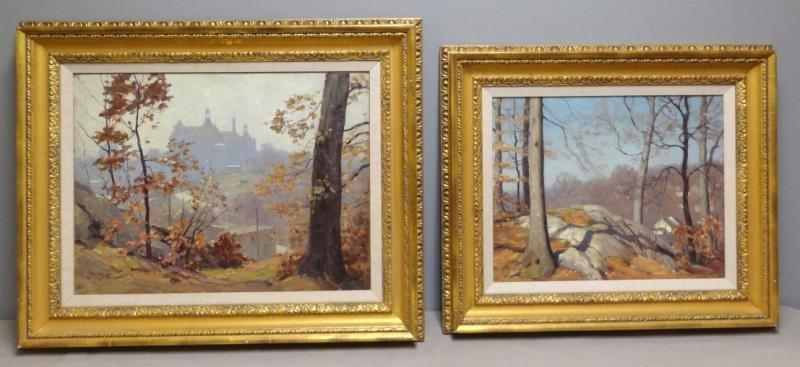 ANDERSON, Victor C. 2 Oil Landscapes.