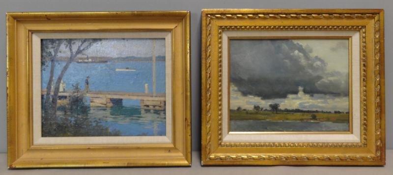 ANDERSON, Victor C. 2 Oil on Board Coastal