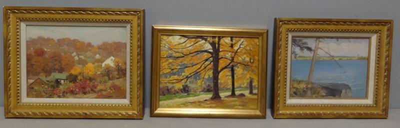 ANDERSON, Victor C. 3 Oil on Board Landscapes.