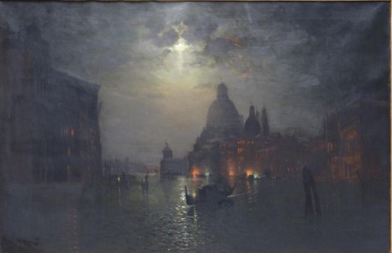 ELDRED, Lemuel 19th C. Oil on Canvas Venice Harbor
