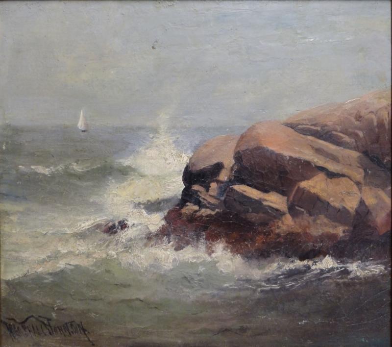 JOHNSON, Marshall. Oil on Masonite Coastal