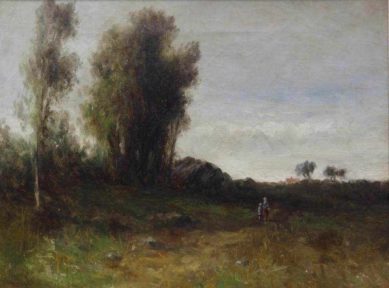 WEBBER, Wesley. Oil on Canvas of Woman and Child