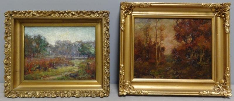 Two Oil on Board Landscapes.
