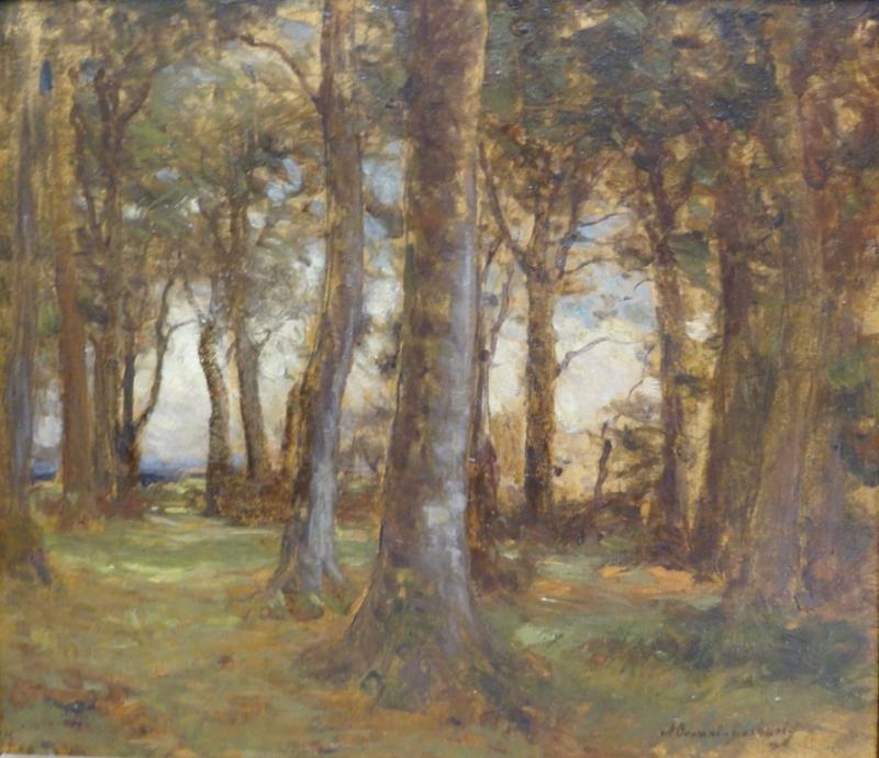 DOCHARTY, Alexander B. Oil on Board Forest