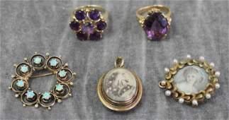 JEWELRY. Estate Jewelry Grouping.
