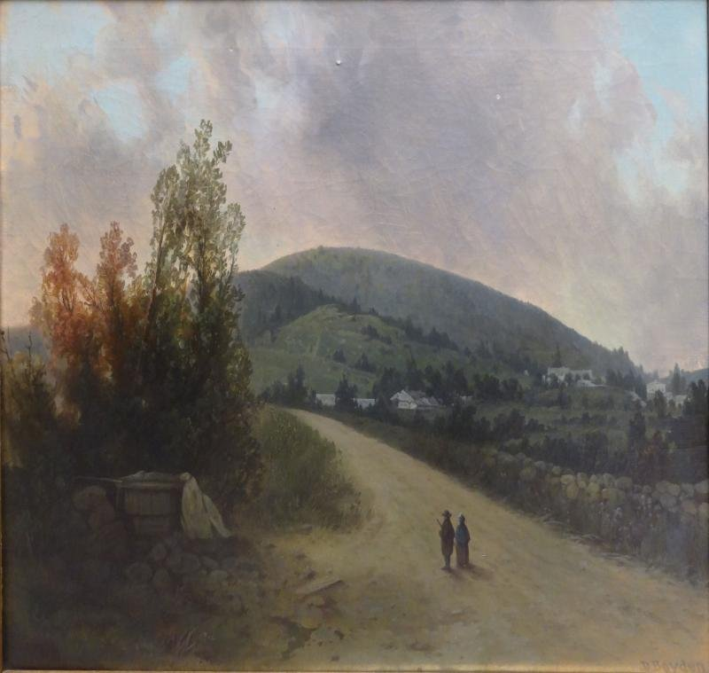 BOYDEN, Dwight. Oil on Canvas of Figures on