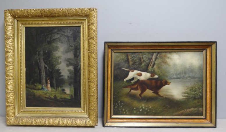 Two Late 19th C. Oil on Canvas.