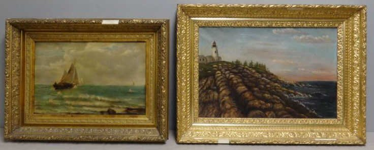 Two Oil on Canvas Seascapes.
