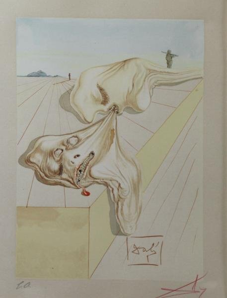 DALI, Salvador. Color Woodblock Engraving.