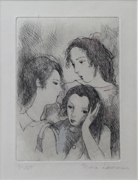 LAURENCIN, Marie. Etching With Hand Coloring.