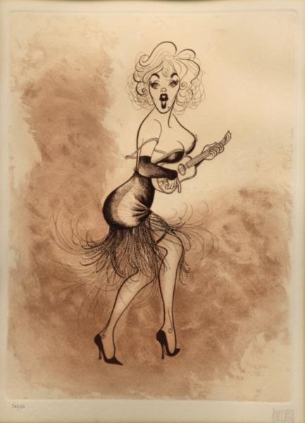 "HIRSCHFELD, Al. Etching ""Marilyn Monroe in Some"