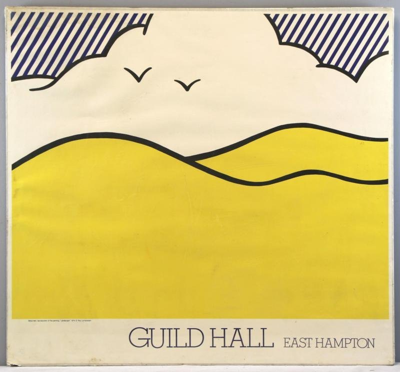 "Roy Lichtenstein ""Guild Hall"" Silkscreen Poster."