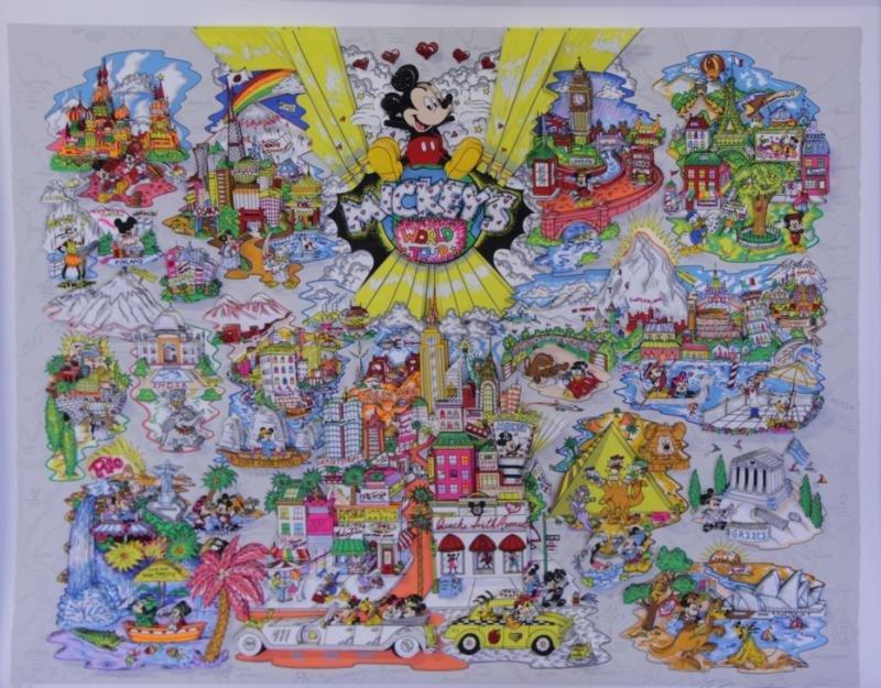 "FAZZINO, Charles. 3-D Serigraph ""Mickey's"