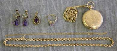 JEWELRY Miscellaneous 14kt Gold Jewelry Grouping
