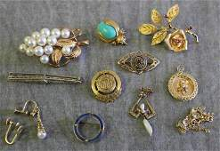 JEWELRY. Miscellaneous 14kt and 10kt Gold Jewelry