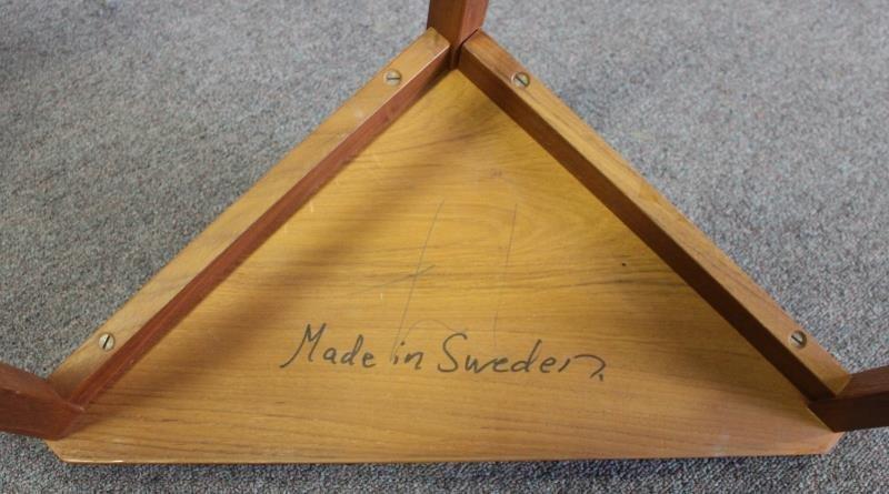 Midcentury Teak Triangle Nesting Tables. - 4