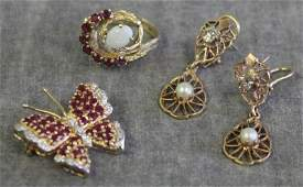 JEWELRY Miscellaneous 14kt Gold Jewelry Group