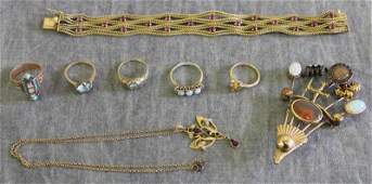 JEWELRY Miscellaneous Gold Jewelry Group