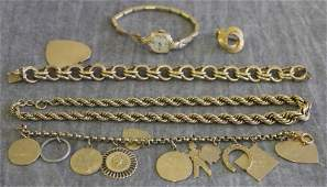 JEWELRY Gold Jewelry Grouping