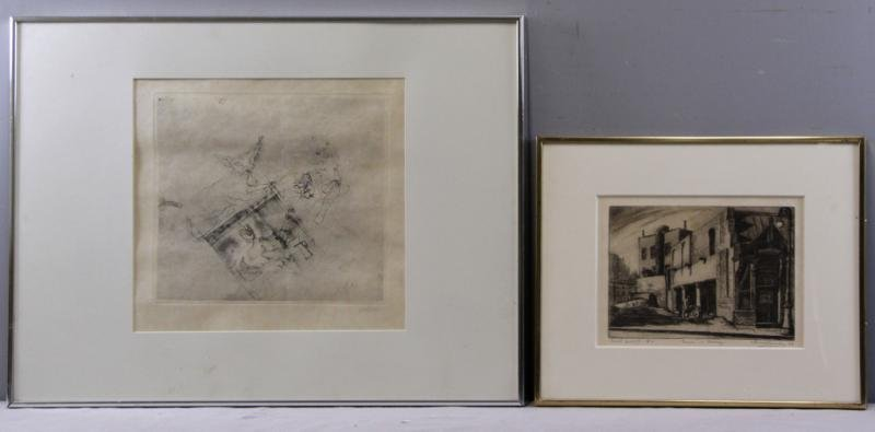 Lot of Two Etchings.