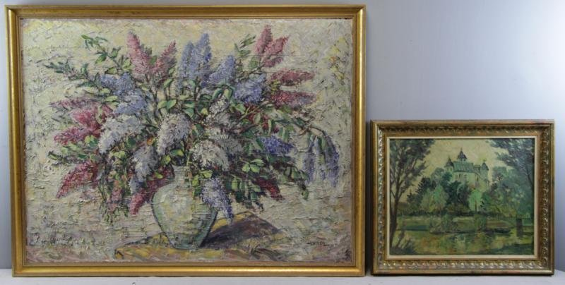 HANSEN. Two Mid 20th C. Oils on Canvas.