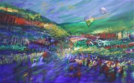 RAANAN, Yoram. Mixed Media on Canvas. Landscape.