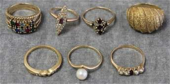 JEWELRY Miscellaneous Gold Ring Grouping