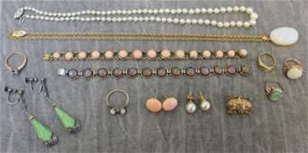 JEWELRY. Gold Ladies Jewelry Grouping.