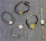 JEWELRY Ladies Gold Watch Grouping