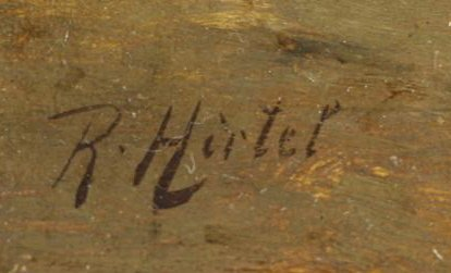 HIRTEL, R. 19th C. on Wood Panel. Two Girls Beside - 4