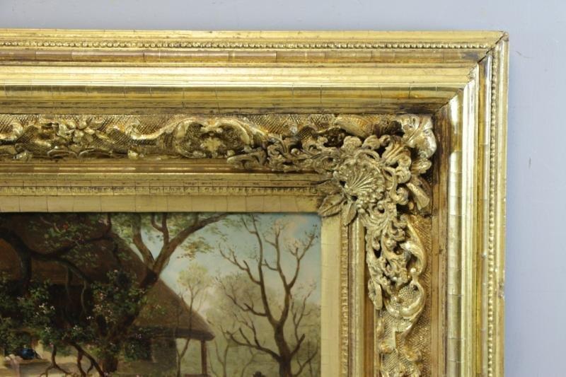 HIRTEL, R. 19th C. on Wood Panel. Two Girls Beside - 5