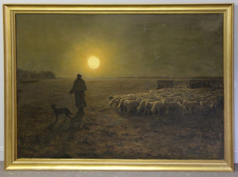 DIETERLE, Pierre-Georges. Large Oil on Canvas. - 2