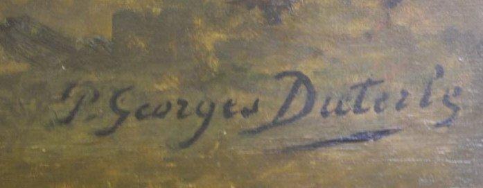 DIETERLE, Pierre-Georges. Large Oil on Canvas. - 4