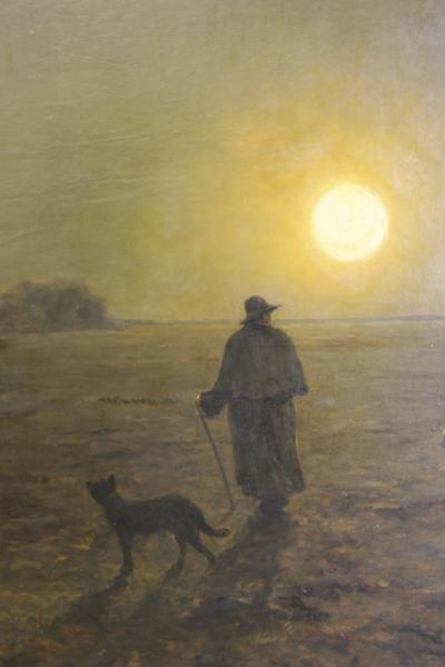 DIETERLE, Pierre-Georges. Large Oil on Canvas. - 5