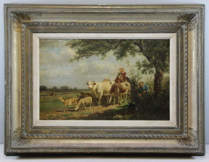 VAN MARCKE, Emile. Oil on Canvas. Figures & - 2
