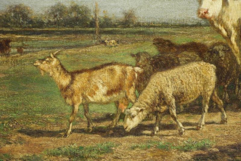 VAN MARCKE, Emile. Oil on Canvas. Figures & - 4