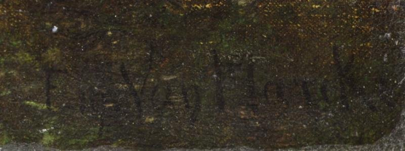 VAN MARCKE, Emile. Oil on Canvas. Figures & - 5