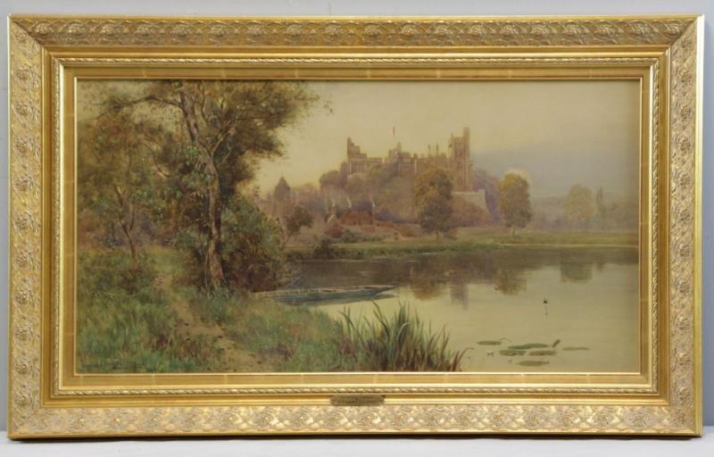 """LLOYD, Stuart W. Watercolor """"Arundel Castle"""". - 2"""
