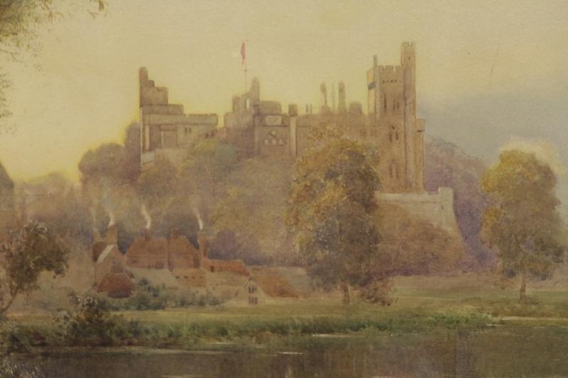 """LLOYD, Stuart W. Watercolor """"Arundel Castle"""". - 3"""