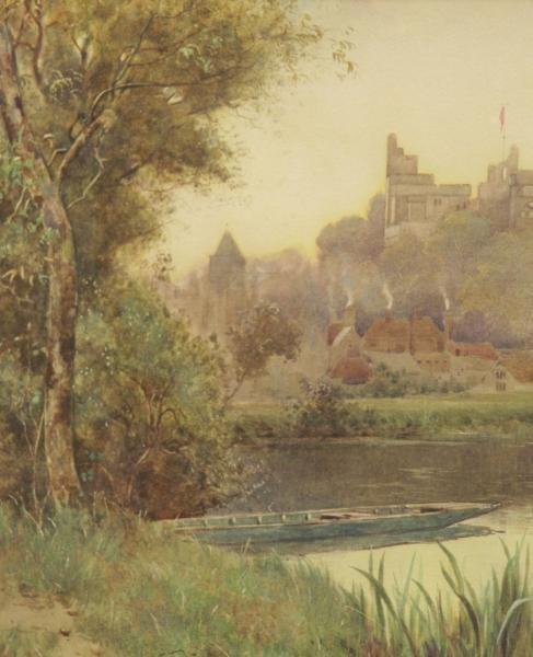 """LLOYD, Stuart W. Watercolor """"Arundel Castle"""". - 4"""