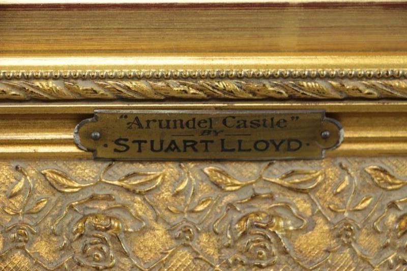 """LLOYD, Stuart W. Watercolor """"Arundel Castle"""". - 6"""
