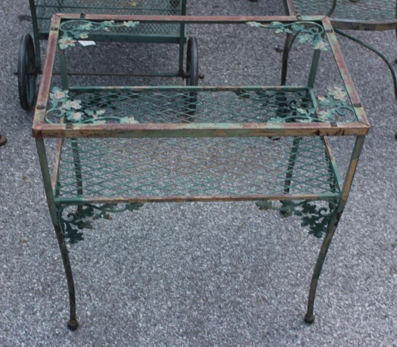 Vintage Woodard Wrought Iron Furniture Lot. - 3