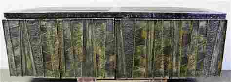 Midcentury Paul Evans Wall-Hanging Cabinet.