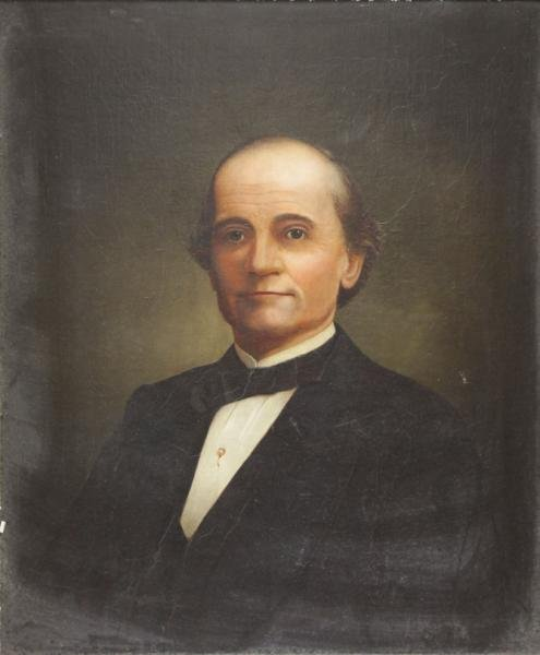 19th C. Oil on Canvas Portrait of a Gentleman.