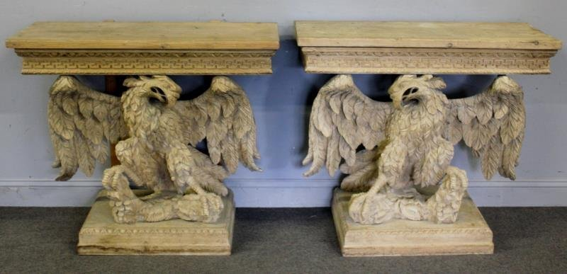 Pair of Impressive Antique Finely Carved