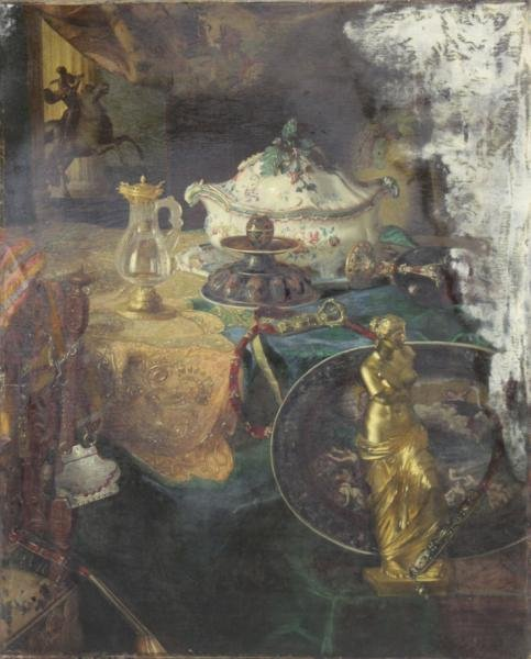 DESGOFFE, Blaise. Oil on Canvas. Still Life.
