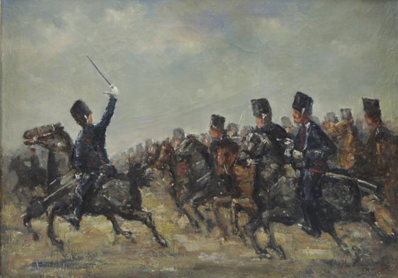 VAN PAPENDRECHT, Jan Hoynck. Oil on Canvas.